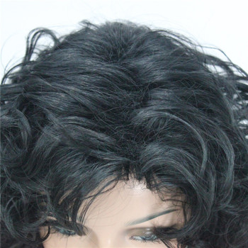 StrongBeauty Women's wig Black/Dark brown Medium Curly Hair Natural Synthetic Full Wigs