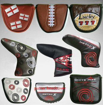New High Quality Golf Putter Cover Custom Mallet Putter Cover  Golf club Headcover  golf push rod wigs protective case
