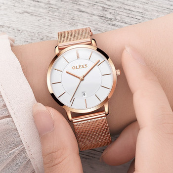Gold watch OLEVS Brand Water Resistant Watch Women Fashion Casual Quartz Ladies Watch Full Steel Wristwatch relogio feminino