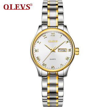 OLEVS Brand Rose Gold Women Watch Steel Strap Luxury Ladies Watch Creative Girl Quartz Wristwatch Clock Montre Relogio Feminino
