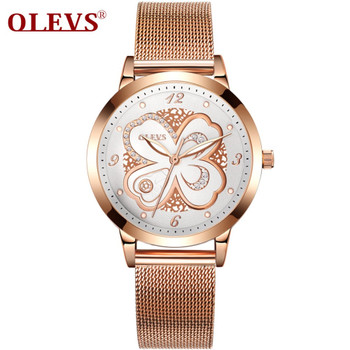 OLEVS Ladies Watch Golden Top Brand Luxury Wrist Watches for Women Watches Stainless Steel Quartz Watch Girls Gift relojes mujer