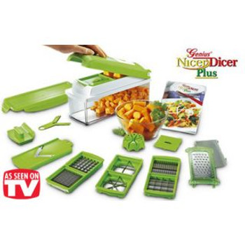 Nicer Dicer Plus Multi Chopper Vegetable Cutter Fruit Slicer