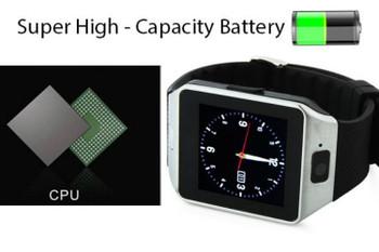 Bluetooth SMART Watch Phone with SIM Card& Memory Slots, Camera