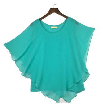 16 Color Plus size S- 5XL 6XL Ladies Chiffon Blouses chiffon shirts blusas,Batwing sleeve tops shirts women asymmetric shirts