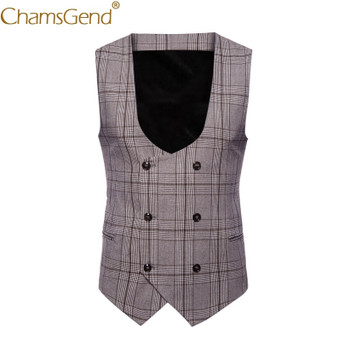 Classic British Plaid Vest Gentleman Business Man Formal Suit Blazers Coat For Formal Occasion Wedding 80808