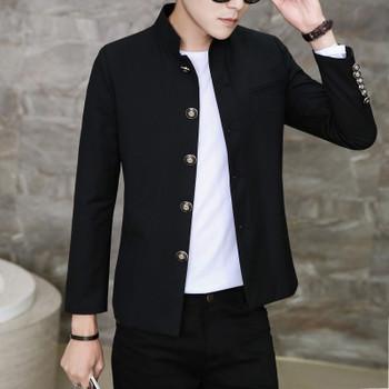 New colleges university Japanese school uniform male men's slim blazer chinese tunic suit jacket top man casual