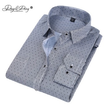 DAVYDAISY 2018 Hot Sale Men Shirt High Quality Long Sleeved Fashion Plaid Floral Printed Brand Clothing Casual Shirt Man DS050
