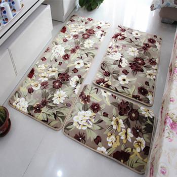 3 Pieces/Set Large Size Bath Mat for the Kitchen Living Rom, Cheap Large Non-slip Bathroom Rugs Carpet Set Tapis Salle De Bain