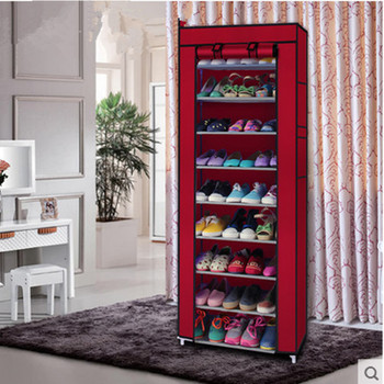 Shoe Cabinet Shoes Rack Prevent Dust And Moisture Storage Large Capacity Home Furniture DIY Simple 7  or 10 Layers