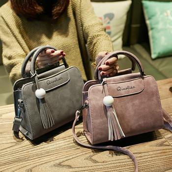 2018 new women handbags, simple fashion flap, trend tassel woman messenger bag, Korean version shoulder bag.