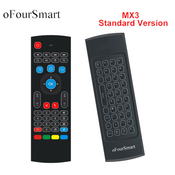Updated 2.4G Fly Air Mouse MX3 Wireless Remote Control Wireless Qwerty Keyboard for Smart TV TV box T95Z Plus/X96 mini Projector
