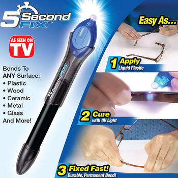 5 Second Fix with UV Light To fix Metal, Plastic, Glass, Rubber (As seen on TV)