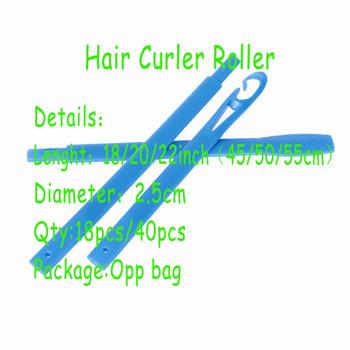 New 18PCS/40PCS Soft Hair Curler Rollers Curl Hair Bendy Rollers DIY Magic Hair Curlers Tool Styling Plastic Hair Curling