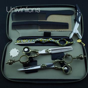 "6"" king style professional hair scissors hairdressing scissors cutting hair clipper haircut kit coiffure scisors japan hair cuts"