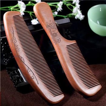 Thicken large pieces bamboo wood combs combs anti-static anti hair loss hair spot wholesale support carved flowers beard DM114