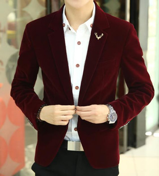 2018 Mens brand blazer jacket new arrival hot sale promotion Male clothing factory blazer masculino red velvet