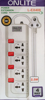 Onlite Power Extension Cord L-EX408