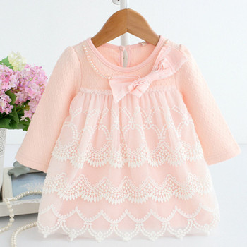 Baby Dress Tiered Dresses Long Sleeve Spring Clothes 1 Year Old Girl Birthday Dress Soft Cotton Frock B014 Baby Outfits Vestidos
