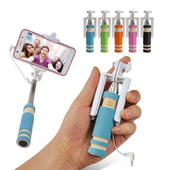 Monopod Mini Selfie Stick with Aux Cable - 1