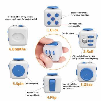 Fidget Cube -WHITE & BLUE)
