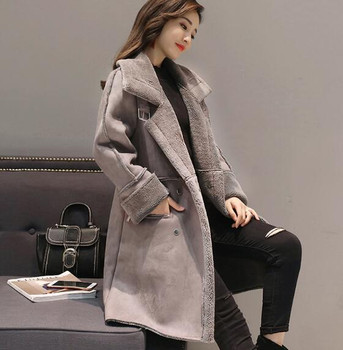 Fdfklak Women's Winter Coat Thick Warm Cashmere Woolen Coat Female Turn-down Collar Long Winter Jacket Women Wool Jackets