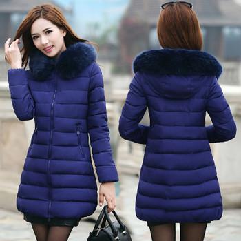 Winter Jacket Women Plus Size 6xl Parka Winter Coat Women Down Jackets Blend Puffer Overcoat Long Female Outerwear With Fur Hat