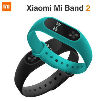 100% Original Xiaomi Mi Band 2 MiBand 2 Wristband Bracelet Smart Heart Rate Fitness Tracker OLED Display for Android/iOS Phone
