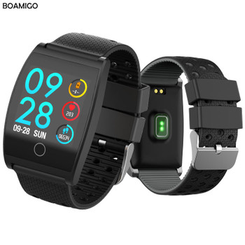 BOAMIGO Smartwatch For Android IOS Phone Smart Bracelet Heart Rate Calorie Reminder Chronograph Men Sports Watch Smartwatch