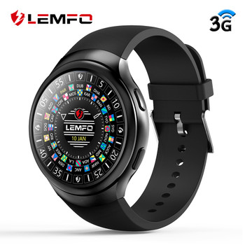 LEMFO LES2 3G Smart Watch Phone Android 1GB + 16GB Smartwatch GPS Wifi Watch Heart Rate Monitor Bluetooth Wristwatch Men Women