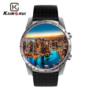 Kaimorui Android Smart Watch Men SIM Card 512MB+8GB Bluetooth Smartwatch Heart Rate Tracker GPS WiFi for Android IOS Watch Phone