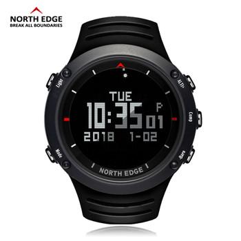 NORTH EDGE Men Sports Watch Altimeter Barometer Compass Thermometer Pedometer Calories Watches Digital Running Climbing Watch
