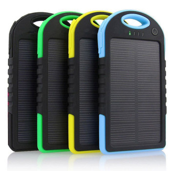 50pcs a Lots  5000MAH USB External Backup Solar Power Bank Charger Battery Waterproof