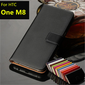 High quality Retro leather phone case for HTC M8 wallet flip cover Card holder cover case for HTC One M8 GG