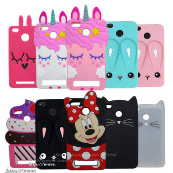 For Xiaomi Redmi 4X Cases Cute 3D Cartoon Mickey Mouse Silicone Back Cover Case For Xiaomi Redmi 4X 4 X Mobile Phone Shell Case