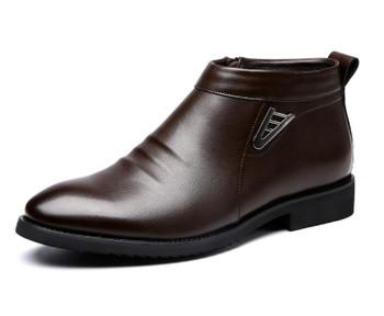 2018 Autumn Winter vlevet Retro Men Boots Comfortable Zipper Brand Casual Shoes Split Leather Snow Boots shoes ST91 Imported