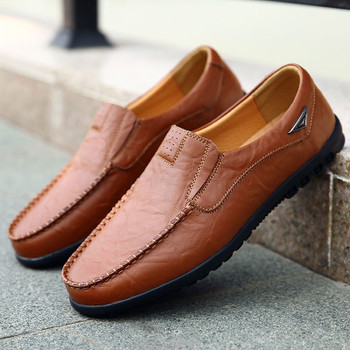 QASDUO Italian Mens Shoes Casual Luxury Brand Men Loafers Genuine Leather Moccasins Comfy Breathable Slip On Boat Driving Shoes