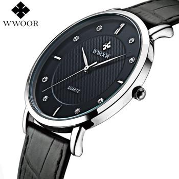 Men Watches New Luxury Brand Ultra Thin Full Genuine Leather Clock Male 50m Waterproof Casual Sport Watch Men Wrist Quartz Watch