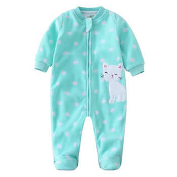 2018 infant baby Romper winter Baby Girl infant Jumpsuit newborn Animal Dinosaur long sleeve Rompers fleece cotton baby Jumpsuit