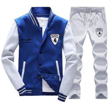 Spring Autumn Men'S Fashion Sportswear Sporting Men Clothes Track Tracksuits Male Sweatshirts Men Plus Size Men Set