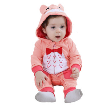 2018 baby rompers girls clothes Newborn baby boy clohing Cartoon warm winter animal Pajamas roupas de bebe macacao recem nascido