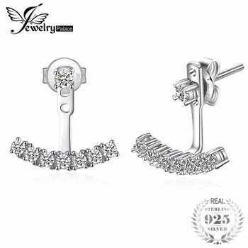JewelryPalace Fashion 0.6ct Cubic Zirconia Stud Earrings Soild 925 Sterling Silver Jewelry for Women Present Brand New Nice Gift