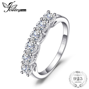 JewelryPalace Bridal Cubic Zirconia Wedding Ring 925 Sterling Silver  New Bridal Fshion Women Jewelry New Arrival Birthday Gift