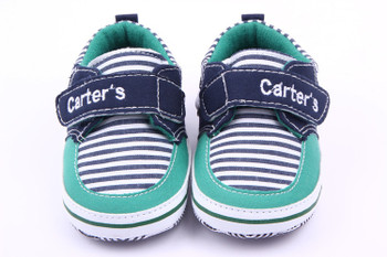 Handsome Newborn Baby Boys Girls Shoes Prewalkers Infant Toddler Kids Stripe Soft Soled Anti-slip Bebe Crib First Walkers Shoe