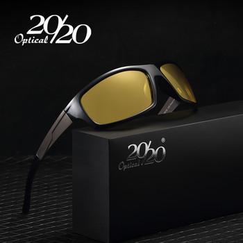 20/20 New Night Vision Sunglasses Men Brand Designer Fashion Polarized Night Driving Enhanced Light anti-glare Glasses PL295