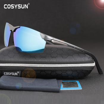 2017 New Arrival Aluminum Magnesium Men's Sunglasses Square Polarized Driving Sun Glasses oculos Male Eyewear Accessories CS2578