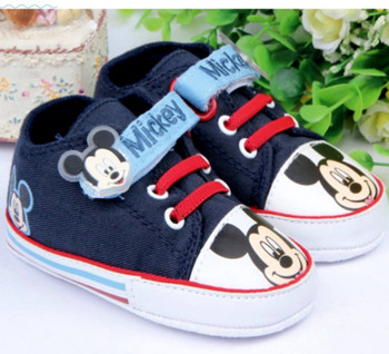 Fashion Brand New Baby Boy Shoes First Walkers Skid-Proof Bottom Sapatinho Bebe Girl Boy Scarpe Neonata Toddler Mickey Sneakers
