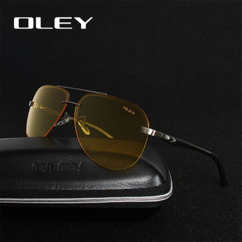 7617d1781a OLEY Yellow Polarized Sunglasses Men night vision glasses Brand Designer  women spectacles car drivers Aviation goggles