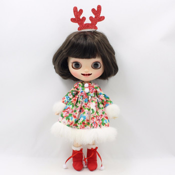 for blyth doll icy licca merry christmas dress red headdress antlers boots gift toy