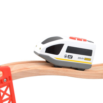 Electric Train Toy Deicast Train Model Wooden Track Accessories with  Sound and Light Magnetic Kids Toys Vehicle