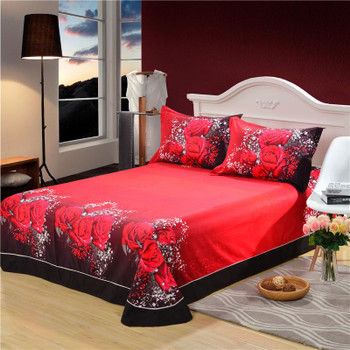 100%Cotton Marilyn Monroe Rose 3D Bedding Sets  Queen Size For Girls Room Christomas gift  Bed Sheet Duvet Cove 4PCS Bed Set